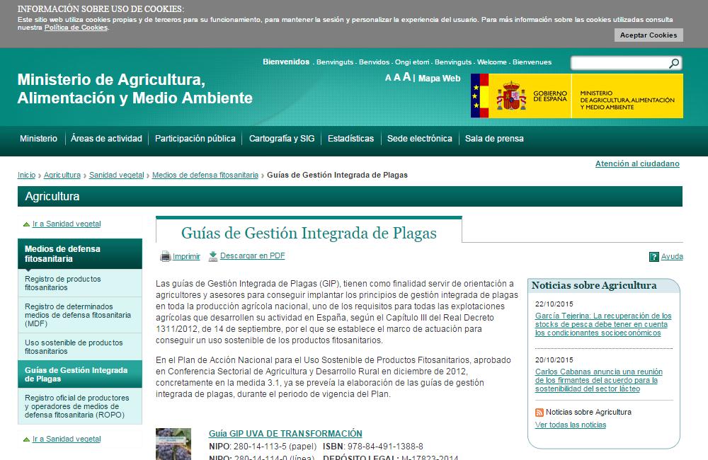 GUÍAS DE GESTIÓN INTEGRADA DE PLAGAS