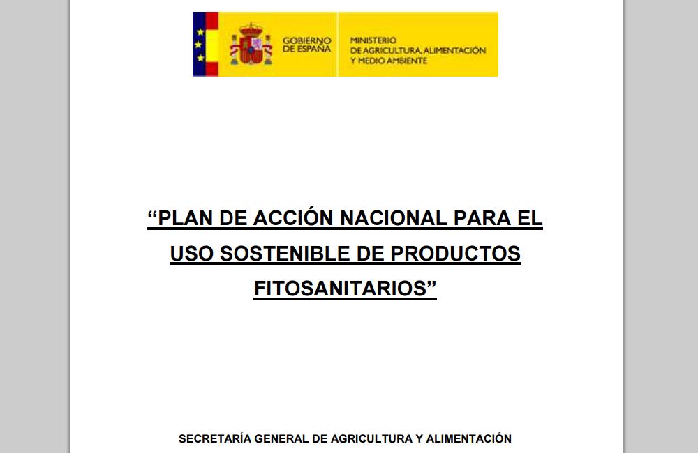 P.A.N. (para el uso sostenible de productos fitosanitarios)